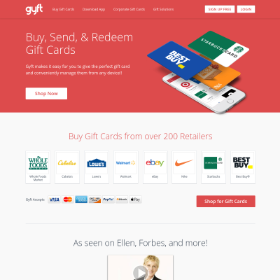Details : Gyft: Buy, Send & Redeem Gift Cards Online or with Mobile App