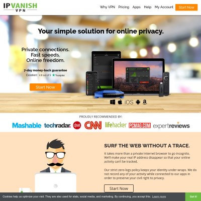 Details : IPVanish VPN: Online Privacy Made Easy - Fastest, Most Reliable VPN