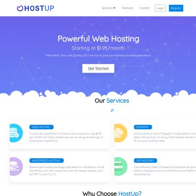 Details : HostUp - Up Your Hosting