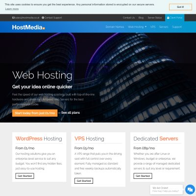 Details : Host Media - Global Web Hosting Services
