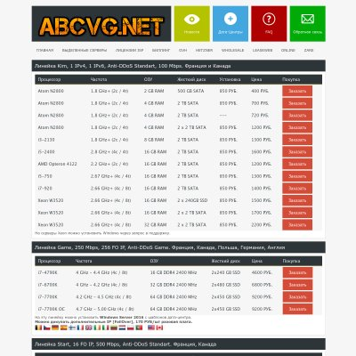 Details : ABCVG.net - sale of servers