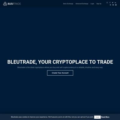Details : Bleutrade Cryptocurrency Exchange | Bleutrade. Your Cryptoplace to Trade