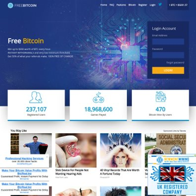 FreeBitcoin.io - Free Bitcoin Cryptocurrency faucet