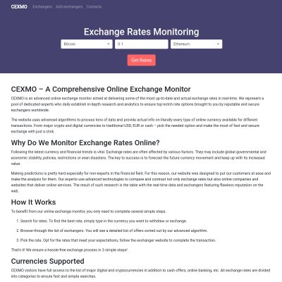 Details : Cexmo - exchange rates monitoring