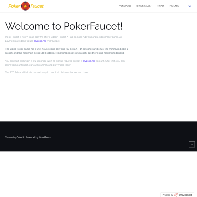 Details : PokerFaucet - Claim and Play