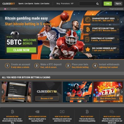 Details : Cloudbet | Original Bitcoin Betting Sportsbook