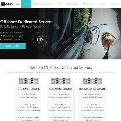 Zak Servers | Offshore Dedicated Servers
