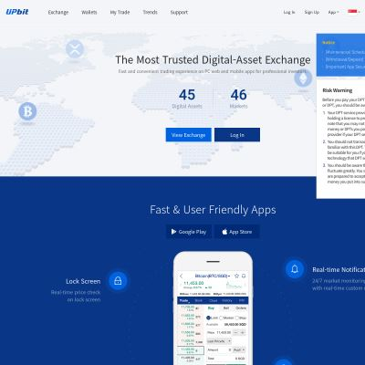 Upbit - The Most Trusted Digital Asset Exchange