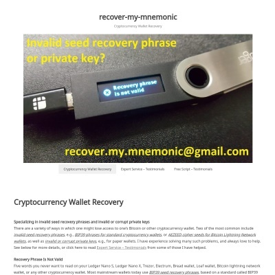 Details : recover-my-mnemonic