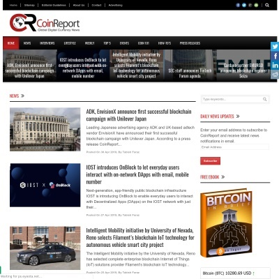CoinReport  Bitcoin news, Analysis, Information and Editorials