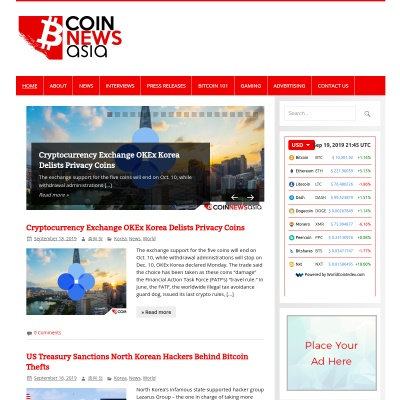 Details : Coin News Asia - Asian Cryptocurrency News on the dot